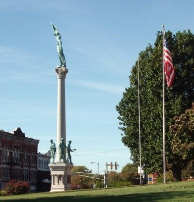 Other View - - Posey County Soldiers and Sailors Memorial Marker image. Click for full size.