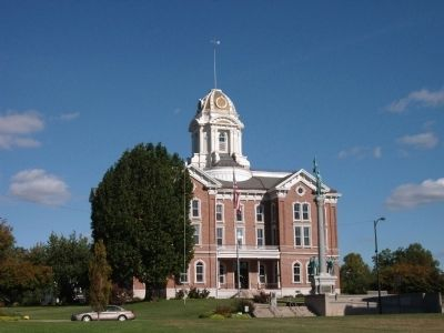 Posey County Courthouse - - Mount Vernon, Indiana image. Click for full size.