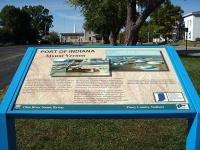 Full View - - Port of Indiana Marker image. Click for full size.