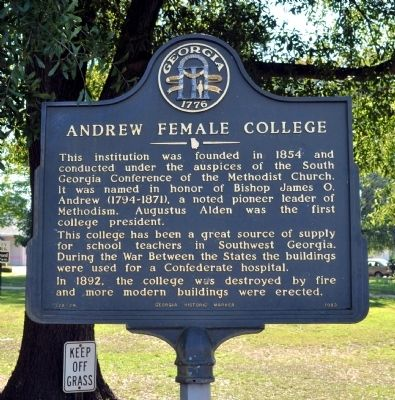 Andrew Female College Marker image. Click for full size.
