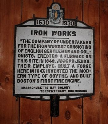 Iron Works Marker image. Click for full size.