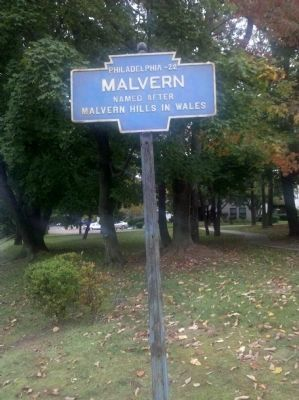 Malvern Town Marker image. Click for full size.