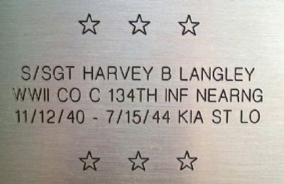 SSGT Harvey B. Langley - KIA image. Click for full size.