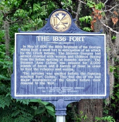 The 1836 Fort Marker image. Click for full size.