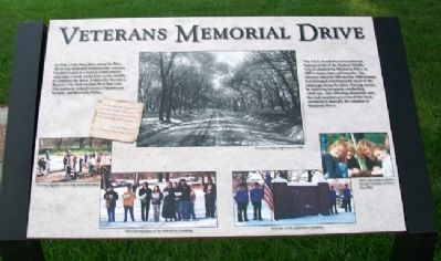 Veterans Memorial Drive Marker image. Click for full size.
