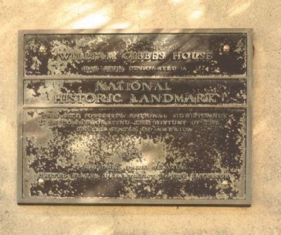 William Gibbes House Marker image. Click for full size.