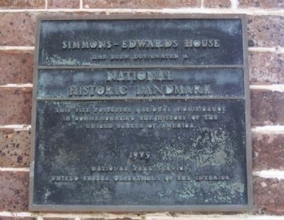 Simmons-Edwards House Marker image. Click for full size.