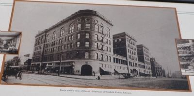 Early 1900's view of Hotel. Courtesy of Norfolk Public Library image. Click for full size.