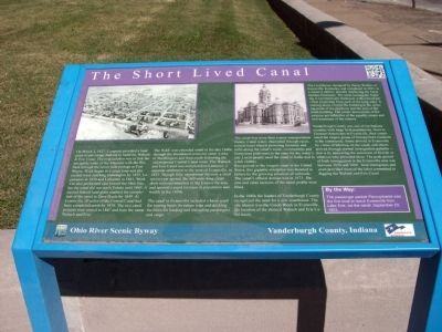 Full View - - The Short Lived Canal Marker image. Click for full size.