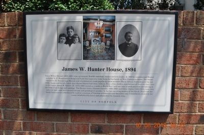 James W. Hunter House, 1894 Marker image. Click for full size.