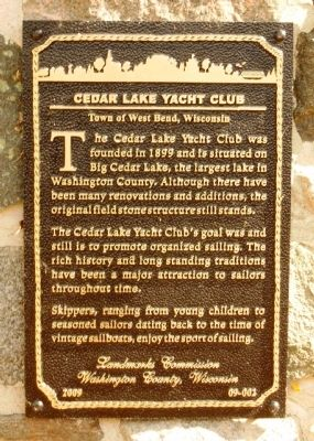 Cedar Lake Yacht Club Marker image. Click for full size.