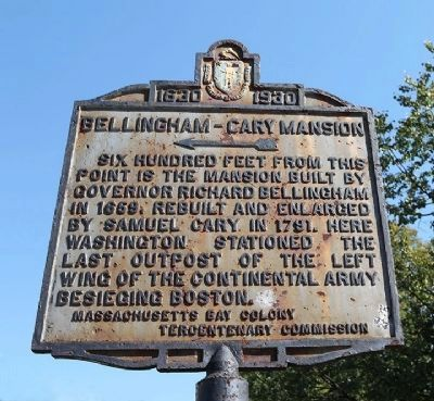 Bellingham-Cary Mansion Marker image. Click for full size.