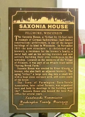 Saxonia House Marker image. Click for full size.