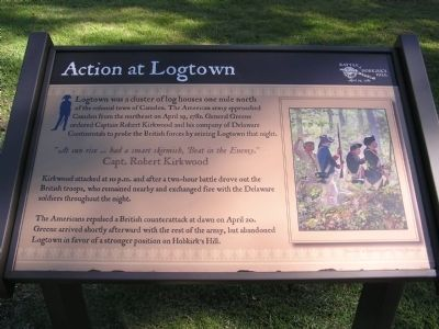 Action at Logtown Marker image. Click for full size.