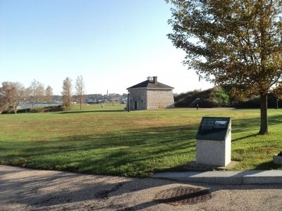 Marker in Fort Trumbull image. Click for full size.