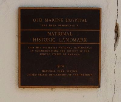 Old Marine Hospital Marker image. Click for full size.