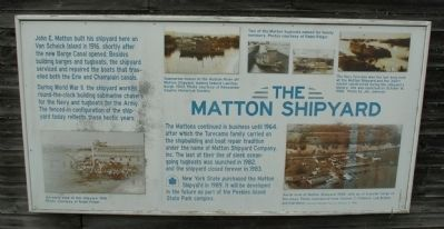 The Matton Shipyard Marker image. Click for full size.