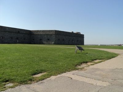 Marker at Fort Adams image. Click for full size.
