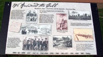 Beatrice's Own - Civil War and the Spanish-American War Marker image. Click for full size.
