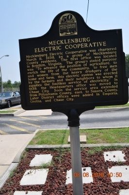 Mecklenburg Electric Cooperative Marker image. Click for full size.