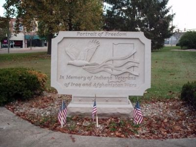 Indiana Veterans of Iraq and Afghanistan Wars Marker image. Click for full size.