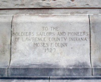 Lawrence County Soldiers Sailors and Pioneers Memorial Marker image. Click for full size.