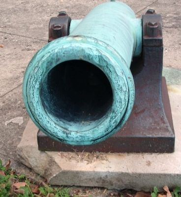 Muzzle - - Left - Courthouse Cannon image. Click for full size.