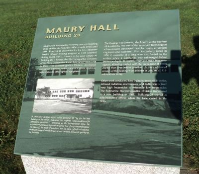 Maury Hall Marker image. Click for full size.