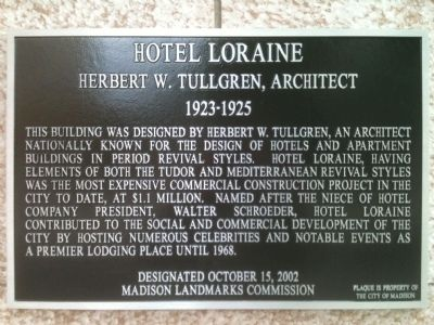 Hotel Loraine Marker image. Click for full size.