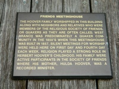 Friends Meetinghouse Marker image. Click for full size.