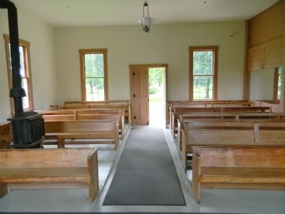 Friends Meetinghouse Interior image. Click for full size.