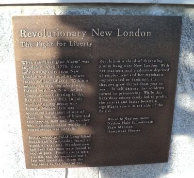 Revolutionary New London Marker image. Click for full size.