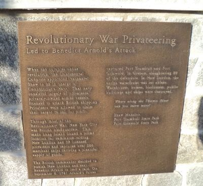 Revolutionary War Privateering Marker image. Click for full size.