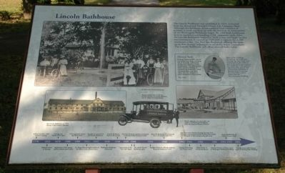 Lincoln Bathhouse Marker image. Click for full size.