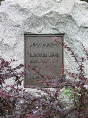 Rusk County World War I Memorial Plaque image. Click for full size.