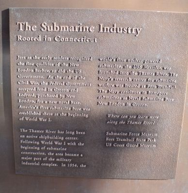 The Submarine Industry Marker image. Click for full size.