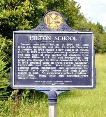 Hilton School Marker image. Click for full size.