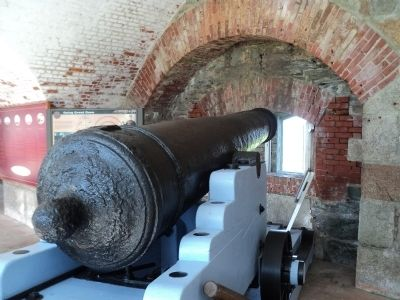 24 pounder Casemate Cannon - 1848 image. Click for full size.
