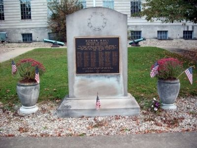 Full View - - Lawrence County World War II Honor Roll Marker image. Click for full size.