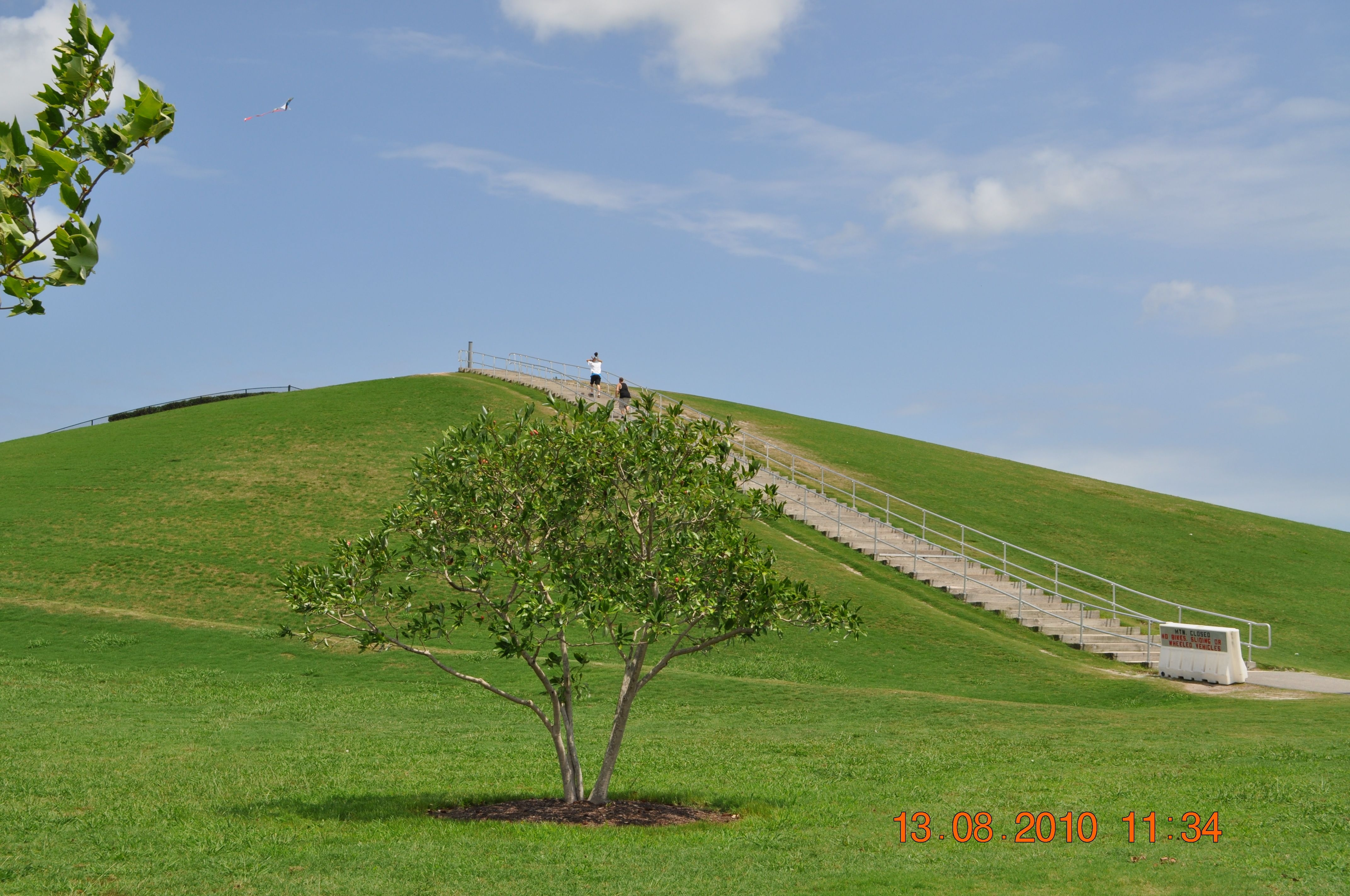 Steps to the top of Mount Trashmore