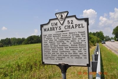 Mabry's Chapel Marker image. Click for full size.