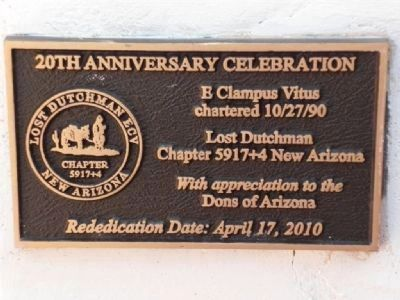 Dons's Camp Marker Re-dedication 20th Anniversary Lost Dutchman ECV image. Click for full size.
