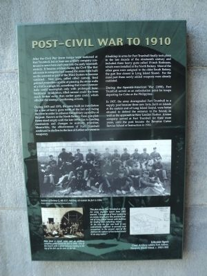 Post Civil War to 1910 Marker image. Click for full size.