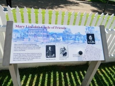Mary Lincoln's Circle of Friends Marker image. Click for full size.