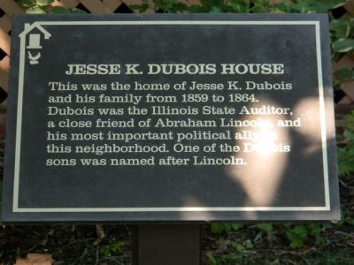 Jesse K. Dubois House Marker image. Click for full size.