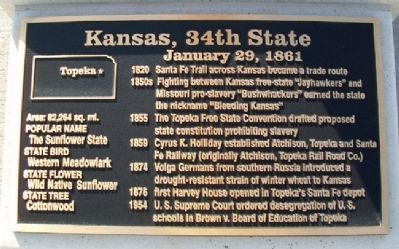 Kansas, 34th State Marker image. Click for full size.