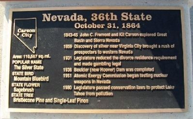 Nevada, 36th State Marker image. Click for full size.