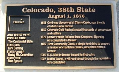 Colorado, 38th State Marker image. Click for full size.