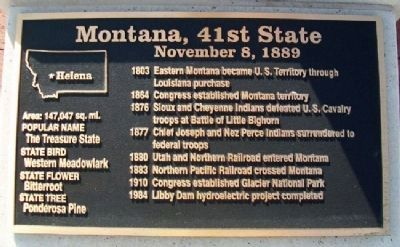 Montana, 41st State Marker image. Click for full size.