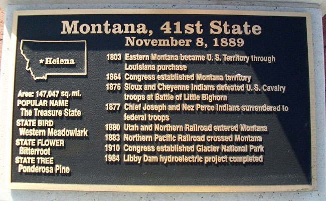 Montana, 41st State Marker